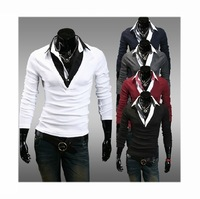 Free Shipping Men's Knitwear Cardigan Fake Pocket Design Slim Casual Sweater Coat M L XLXXL Wholesale[07-1704]