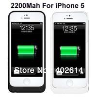 2200mah for Apple iPhone 5 5G External Battery Case 20pcs/lot