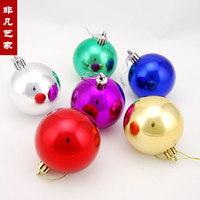 Free shipping Light 10cm christmas ball decoration ball plated ball christmas tree