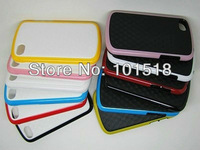100pcs/lot&Free shipping Newest Double Color Bumblebee TPU Case Cover for BlackBerry Q10