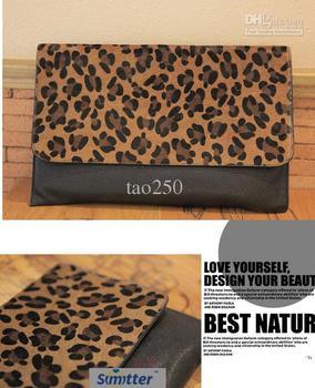 Leopard hangdbag envelope bag evening bag NEW fashion PU Leather