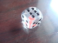 19MM rounded full transparent red black dice 19# gift accessories special export products exquisite gifts