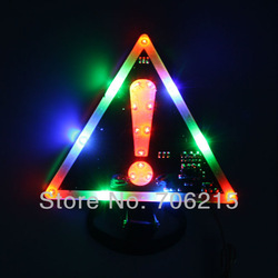 Free shipping Exclamation Mark Pattern LED Colorful Car Warning Light(China (Mainland))