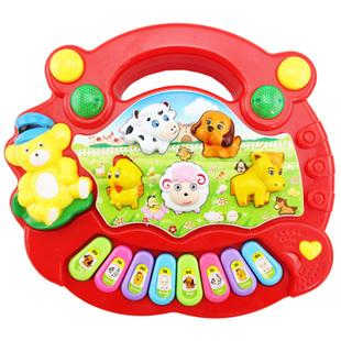 Free Shipping  Baby Kid's Popular Animal Farm Piano Music Toy Electrical Keyboard Developmental Piano Toy
