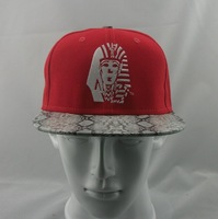 Red Snakeskin Last King Snapbacks Caps 100% cotton best quality
