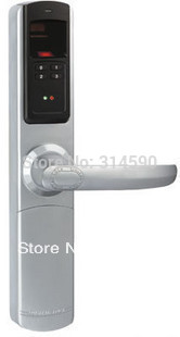 ADEL5500 European style Fingerprint Door Lock with double-decked compound lock body 3 in 1(China (Mainland))