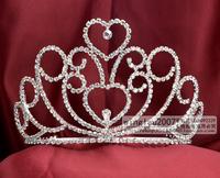 Wah Mei rhinestone tiara crown bridal wedding and beauty pageant  hair wear NO.01663
