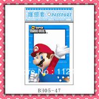 Free Shipping Super mario passport holders 100pcs/lot passport covers Card holders
