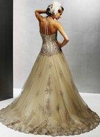 Free shipping wholesale/retail 100% Guarantee elegant organza Wedding Dresses 2012 Custom size/colour