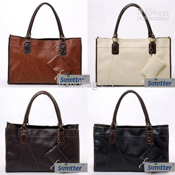 new fashion PU leather large shoulder handbags 4 colors