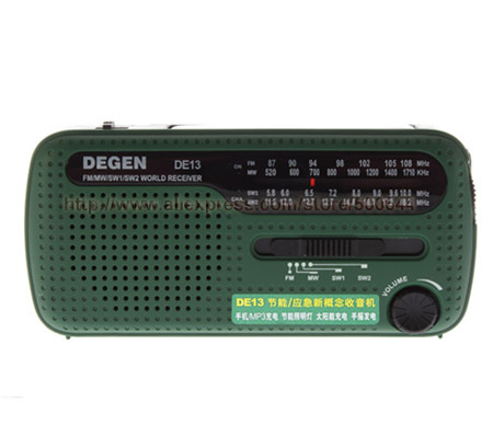 DE13 FM SW MW Mini Crank Dynamo Solar Power Emergency Radio & 2PCS/Lot Free Shipping(China (Mainland))