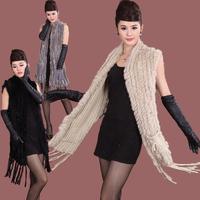 Chopop Fur 2013 female medium-long fur rabbit fur cape outerwear cloak fur waistcoat In Stock Free Shipping