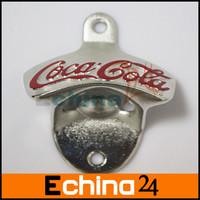 Silver Color Zinc Alloy Coke Metal Wall Mount Bottle Opener Bar Tool Opener Bottle 10pcs/lot Free Shipping