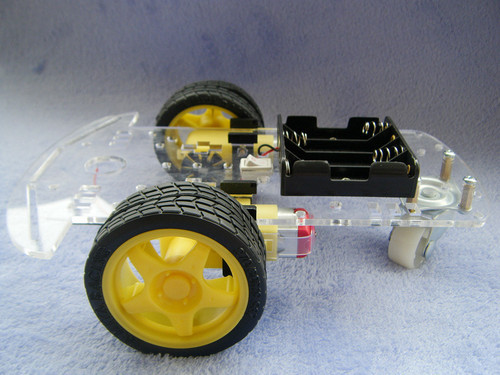 Smart Robot Car Chassis Kits Arduino car with Speed Encoder Battery Box free shipping wholesale(China (Mainland))