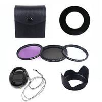 52mm Lens Hood UV CPL FLD Filter Kit Cap for Nikon D3100 D5100 w 18 55mm