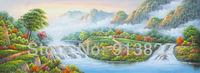Free Shipping Paintings Handmade Impression Landscape Background Art Wholesale Price