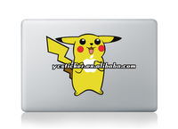 2013 New Design Decal Creativity Pikachu Decals for MacBook Decals Stickers Skin for Apple Free Shipping