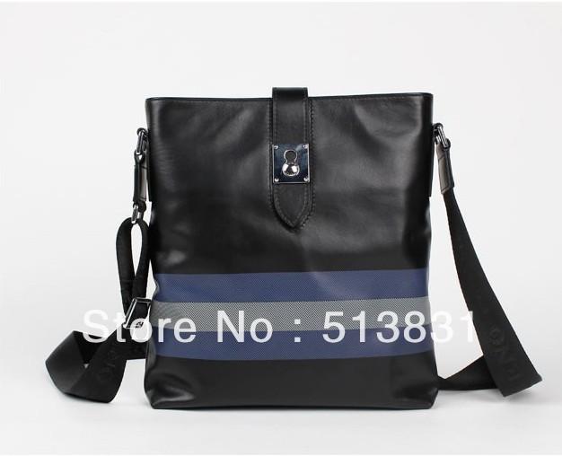 100% Genuine leather shoulder bag men fashion casual messenger bag layer of cowhide bag, Thin and light men leather Handbag(China (Mainland))