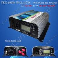 Free Shipping 600W Wind Turbine Grid Tie Inverter AC input,built-in dump load controller,factory wholesale, promotion, coupon