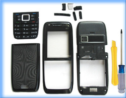 MOBILE PHONE BLACK COVER HOUSING CASE +KEYPAD TOOL FOR NOKIA E51(China (Mainland))