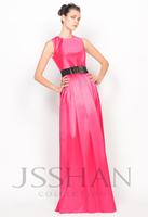 12P034 Simple Straps Sash Enriched Elastic Woven Satin Luxury Gorgeous Unique Brilliant Prom Evening Dress Fancy Dress Party