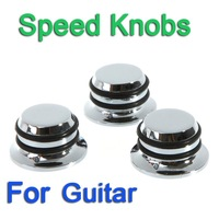 3PCS/set Chromed Metal Knobs Hat Tone Volume Replacement Guitar Parts, Free Shipping+Drop Shipping Wholesale