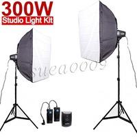 Godox 300Ws 300W 2*150Ws Studio Strobe Photo Light with Softbox Trigger Kit
