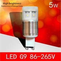 Ledg9 86-265v g9 crystal lamp 5w g9 light beads transformer
