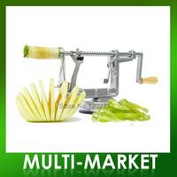 Free shipping/3 in 1 Apple Slinky Machine Peeler Corer Potato Fruit Cutter Slicer Kitchen Tool High quality apple peeler
