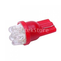Free Shipping Red 6-LED Dashboard Side Light Bulbs T10 194 24V