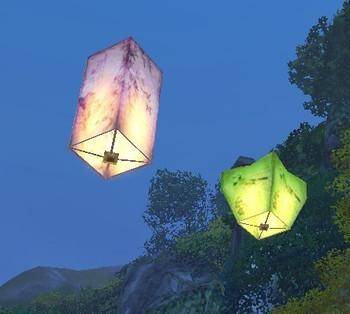 30PCS Holiday Sky Lanterns Copy paper dream catcher ~ Lanterns Valentine Birthday lamps