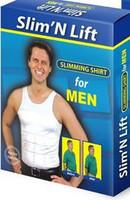 Free Shipping Men's Tight-fitting Vest Slim'N Lift Body TV Vest Spandex Undershirt Slimming Shapers White/Black TS-035