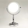 Sale 30% off Mother's Day Gift Chrome Finish Dresser Table Lamp Make up Mirror With LED light 3x to 1x magnify