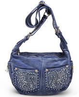 Free shipping-2014 new arrival women denim shoulder bag/Female Hot drill fashion brand handbag