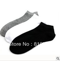 freeshipping 2013new Wholesale high-quality low price Classic pure color socks Men's boat socks Cotton socks  10pair/lot