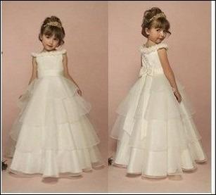 infantil feminino dama princesa flor menina vestido vestido de noiva desgaste performance criança design longo vestido de noite branco para jovens(China (Mainland))