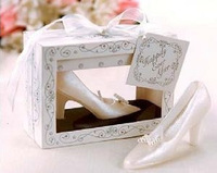 Free Shipping Crystal shoes wedding candle princess