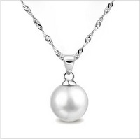 GS brand  XL-3 free shipping hot sell high quality diameter 14mm pearl & 925 stamp silver ladies`s pendant necklace 1pcs/lot