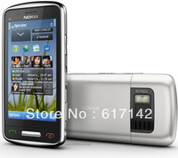 IN STOCK Refurbished Original Nokia C6-01 Smart cellphone GPS Wi-Fi 8MP high clear camerabluetooth free shipping