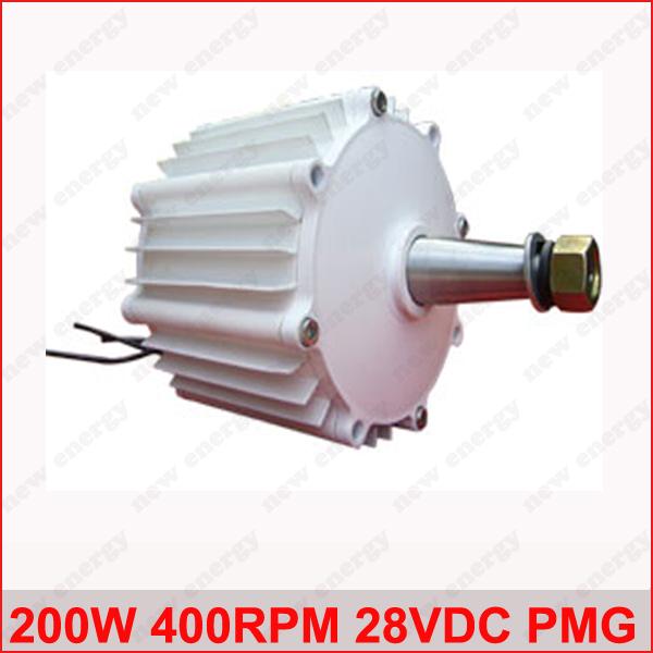 Free Shipping! High quality 200w 400rpm low speed horizontal permanent magnet generator / wind alternator(China (Mainland))