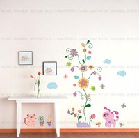 Cartoon flowers Home room Decor Removable Wall Sticker/Decal/Decoration B40229