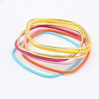 Min. order is $15(mix order)Factory price, fashion jewelry,Sweet rainbow multilayer hot all-match Beaded Bracelet