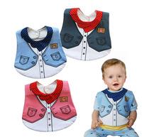 Free shipping SUPER BIG baby waterproof bib Infant saliva towels Mark Carter Baby wear waterproof formal dress