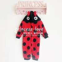 Infant spring plush clothes outerwear child animal one piece sleepwear coral fleece sleeping bag spring and autumn
