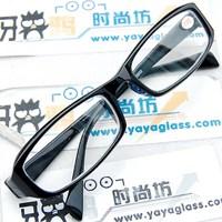 Rubric 10 black plate frames hard white resin lenses finished product myopia glasses