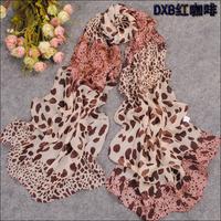 All-match pure chiffon silk scarf fashion scarf leopard print scarf personalized silk scarf