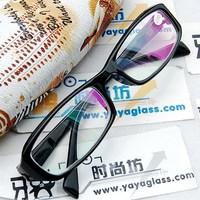 Black purple color plate frames radiation-resistant two-color film resin lenses finished product myopia glasses