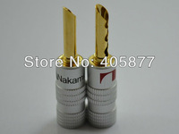 24K Gold Plated Nakamichi BFA Banana Plug Connector 14pieces per lot