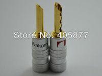 24K Gold Plated Nakamichi BFA Banana Plug Connector 14pieces per lot