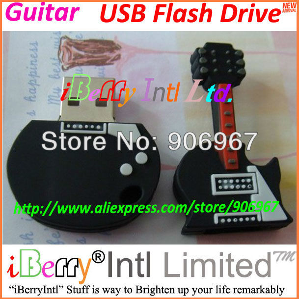 Mini Guitar USB Flash Memory Stick Pen Drive Disk for Laptop 8GB(China (Mainland))
